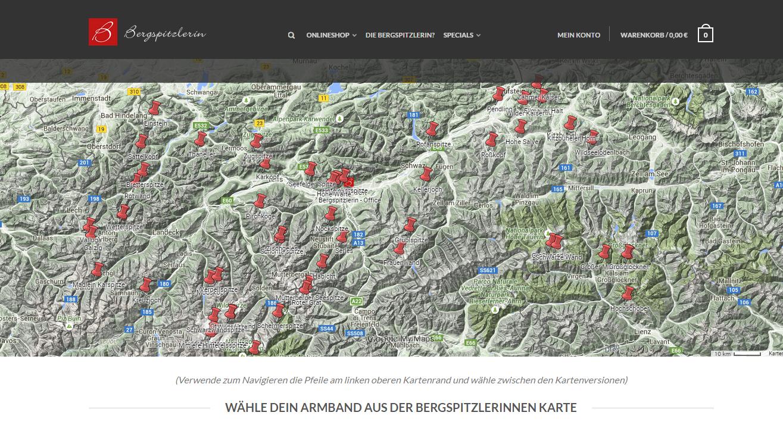 Armband Tirol Gipfelkarte Bergspitzlerin