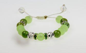 Damen Armband | hellgrün | Bergketten von Bergspitzlerin