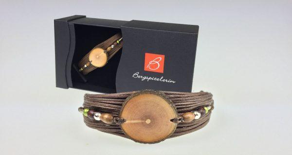 Damen Armband - Woodstyle - Tiroler Ahornscheibe
