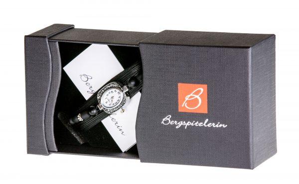 Uhr Armband | schwarz | Bergspitzlerin Tirol